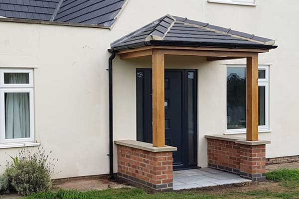 English oak framed porch - Copmanthorpe