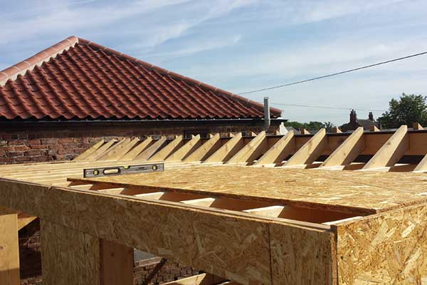 Forming of a new dormer roof extension