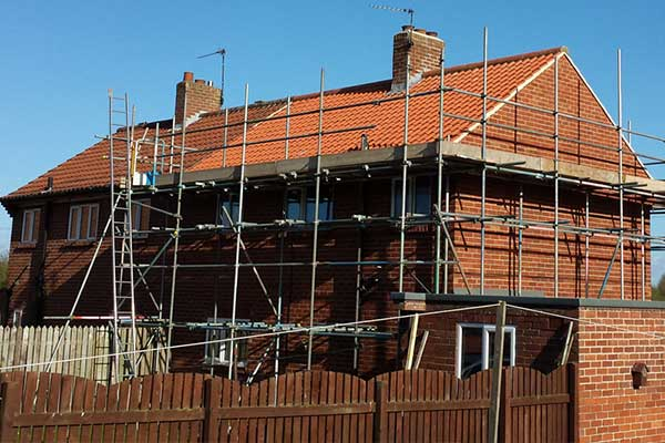 Re-roofing of a property in Littlethorpe, Ripon using new Imerys