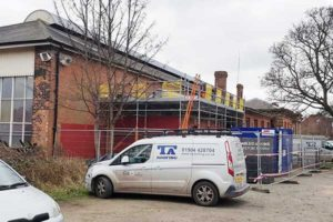 TA Roofing at Beverley Railway Station