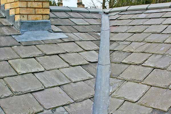 New Replacement Roof with Lead Valleys and Lead Flashings