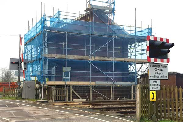 Roof replacement - Network Rail property near Selby