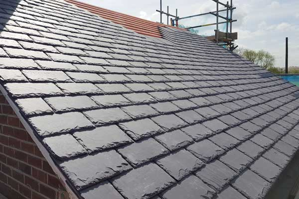 Welsh slate roof - Network Rail property near Selby