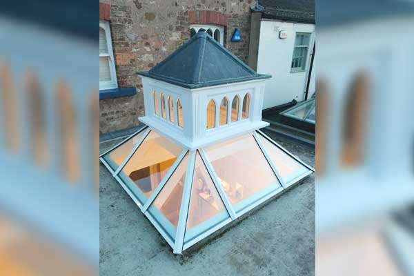 Repaired Timber Roof Lantern Exterior TA Roofing