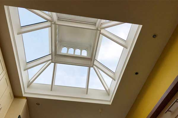 Repaired Timber Roof Lantern Inside - TA Roofing
