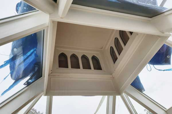 Repaired timber roof lantern