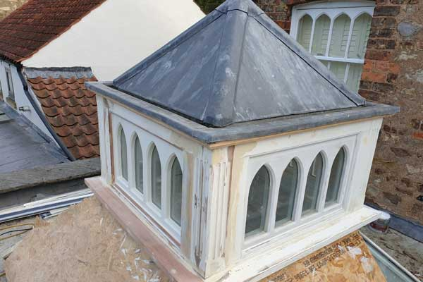 Repairing Timber Roof Lantern TA Roofing