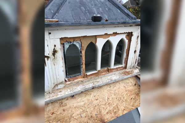 Rotten Timber Roof Lantern