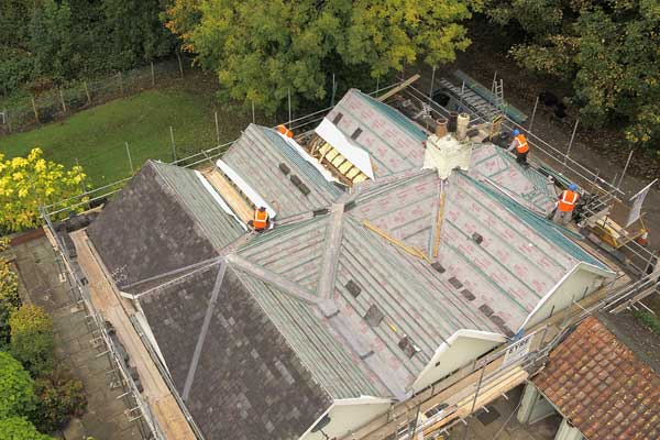 Re roofing Skelton York - drone
