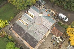 Re-roofing York - aerial photo